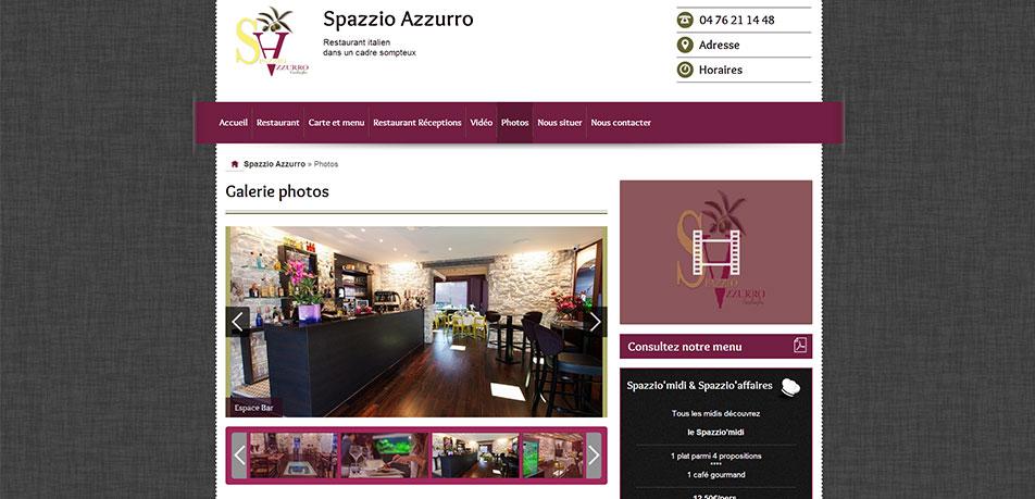 Spazzio Azzurro, site web